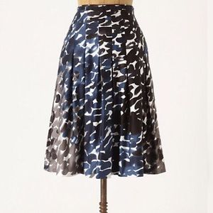 Anthro Maeve Sumukwha Watercolor A-Line Skirt
